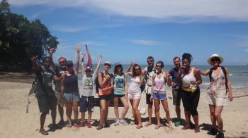 Sur la plage de Puerto Viejo